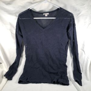 GAP women's XS mesh navy blue sweater